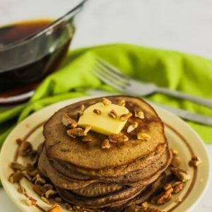 keto coconut flour cinnamon pecan pancakes