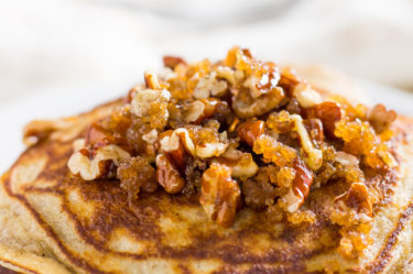 coconut flour pancakes stacked