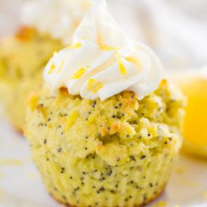lemon coconut flour cupcakes