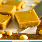 low carb peanut butter fudge, keto, no bake, sugar free