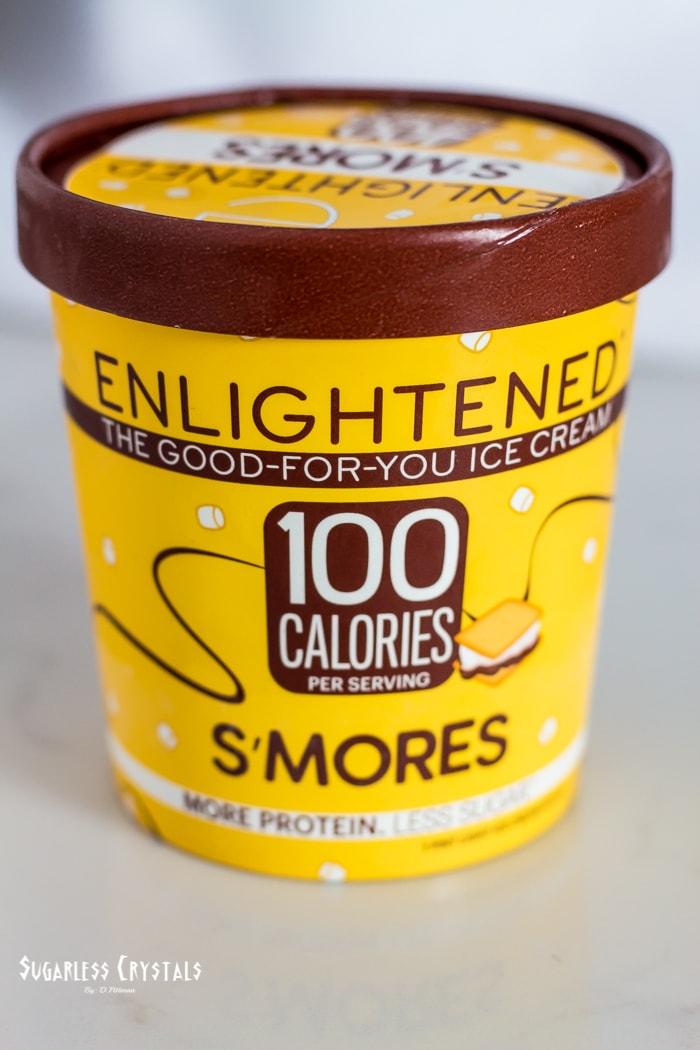 Enlightened ice cream s'mores