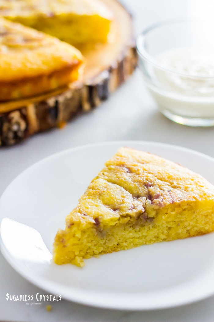 low carb lemon blueberry cake, keto, sugar free