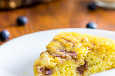 low carb lemon blueberry cake