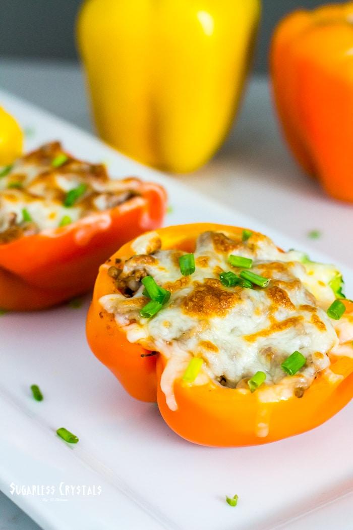 spicy taco stuffed bell pepper