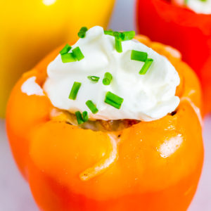 spicy taco stuffed bell peppers