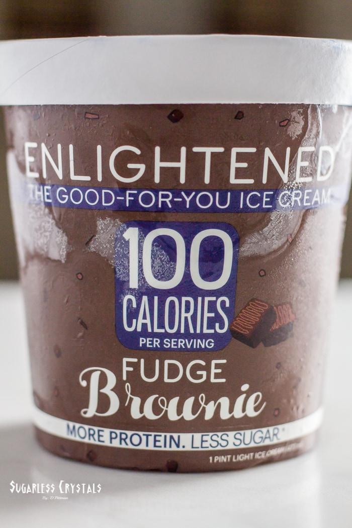 pint of enlightened ice cream flavor fudge brownie