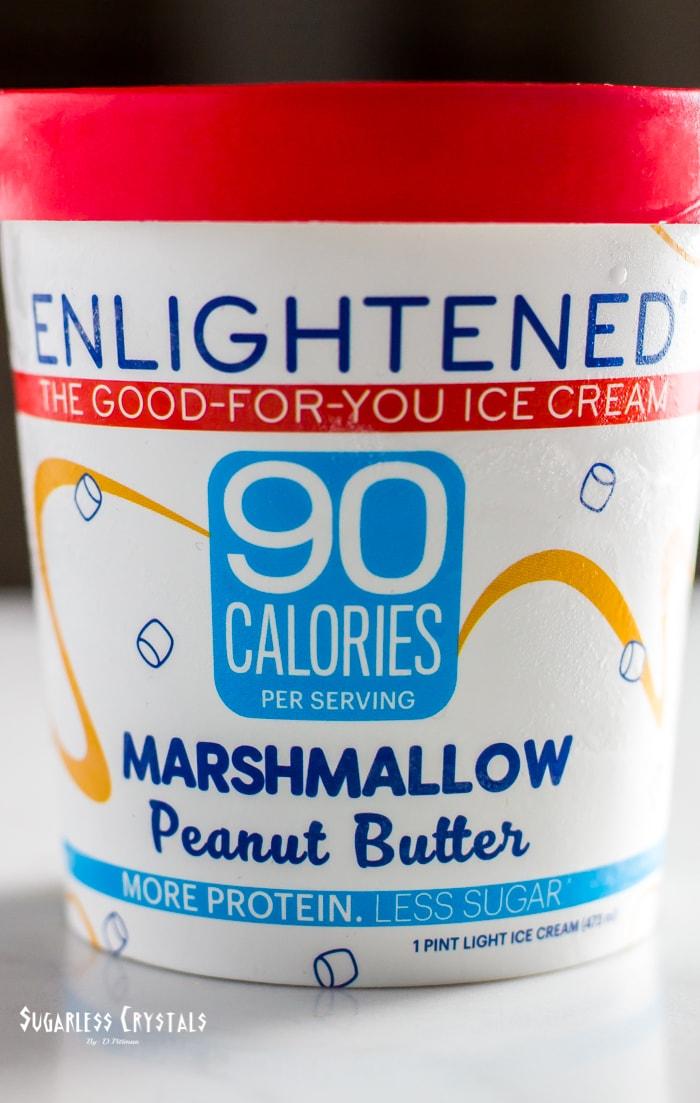 pint of enlightened ice cream flavor marshmallow peanut butter