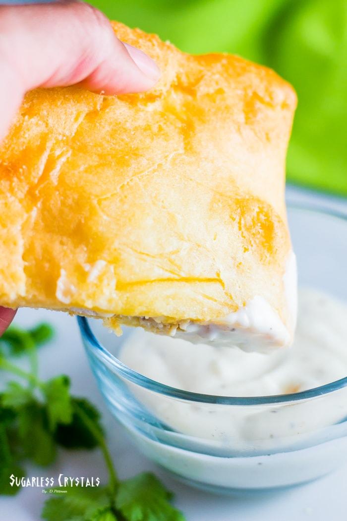keto fathead dough calzone