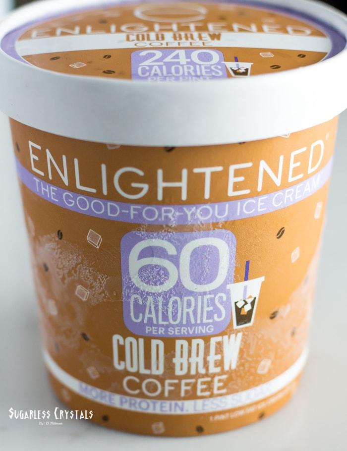 pint of enlightened ice cream flavor cold brew coffee