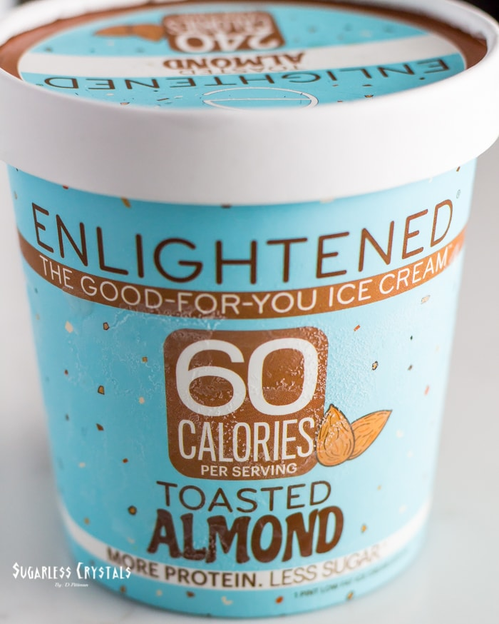 pint of enlightened ice cream flavor toasted almond