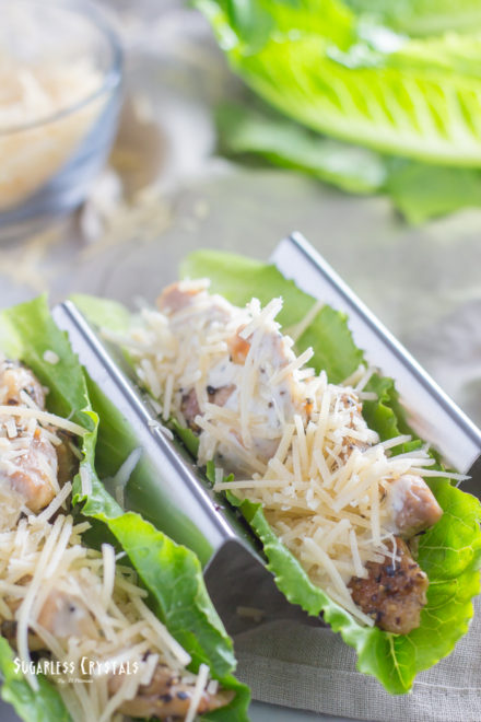 Low Carb Caesar Chicken Lettuce Wrap (Keto, Grain Free)