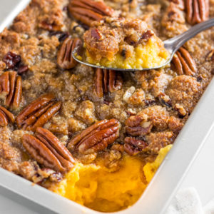 Keto sweet potato casserole