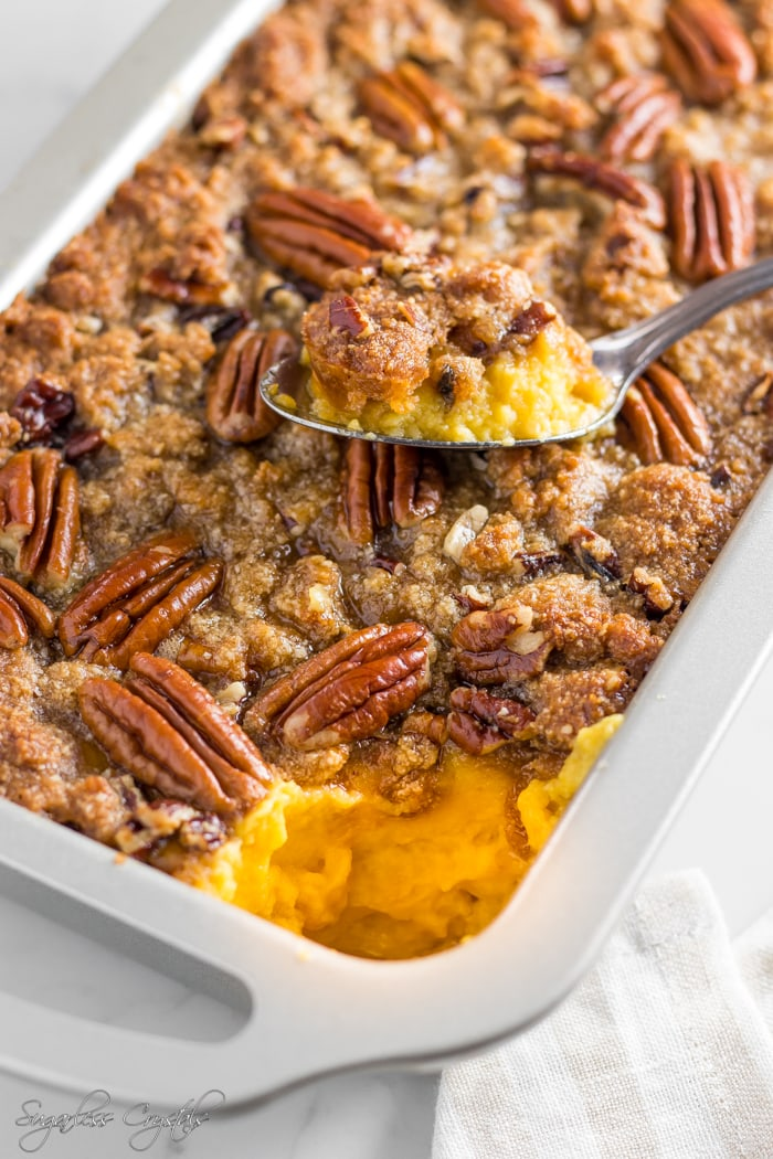 I Can't Believe It's Not A Keto Sweet Potato Cauliflower Casserole (Low Carb, Grain Free)