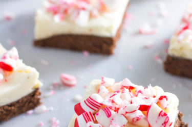 peppermint keto brownies