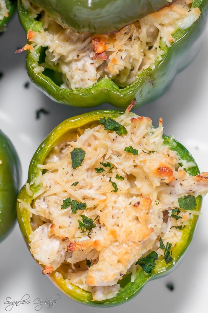 creamy chicken keto stuffed peppers recipe