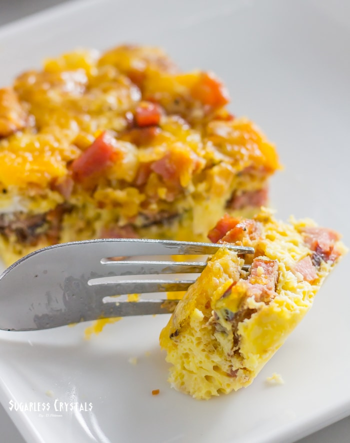 meat lovers scramble keto egg bake