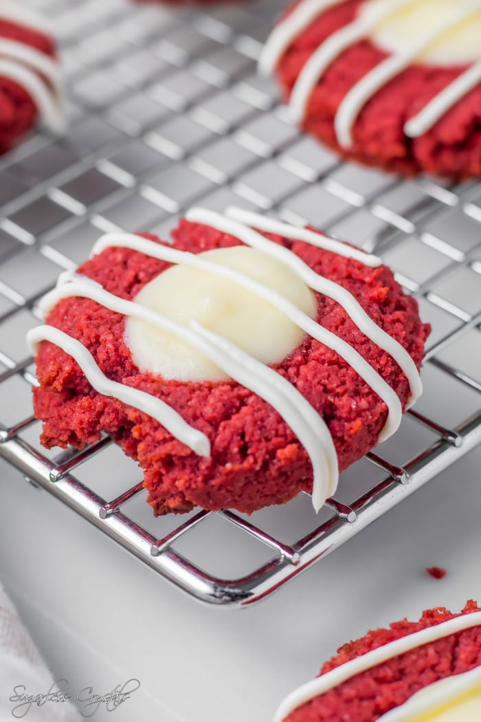 Red velvet keto cookies