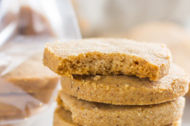 Keto Shortbread Cookies with Cookie Butter