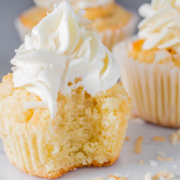 Coconut butter keto cupcakes