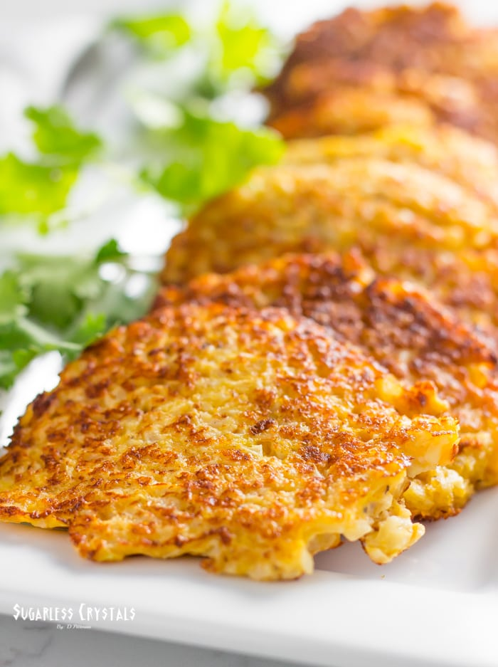 Keto Cauliflower Hash Browns (Grain Free, Low Carb)