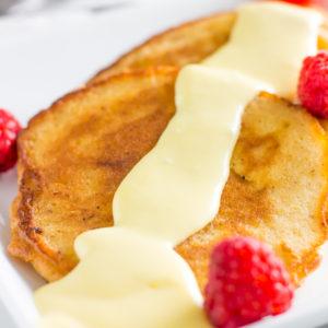Spiced almond flour pancakes