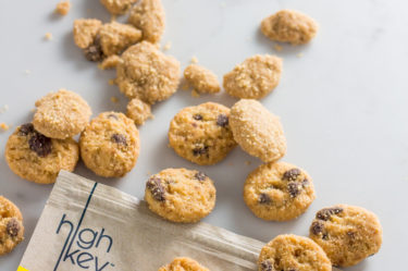 HighKey snacks keto mini cookies pouring out of the bag