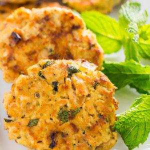 onion and herb tuna cakes