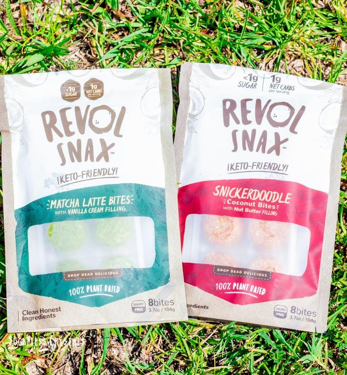 revol snax keto bites flavors matcha and snickerdoodle