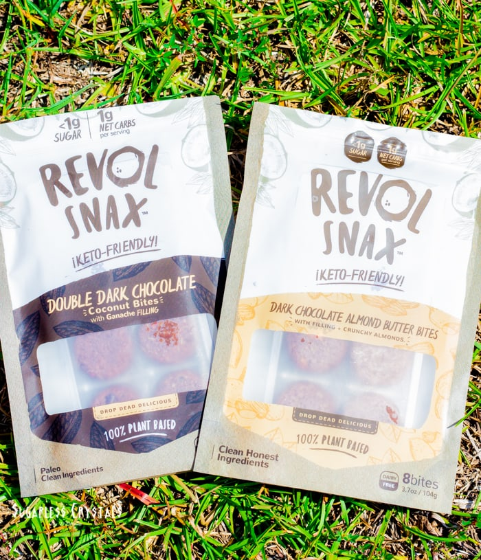 revol snax flavors double dark chocolate and dark chocolate almond butter
