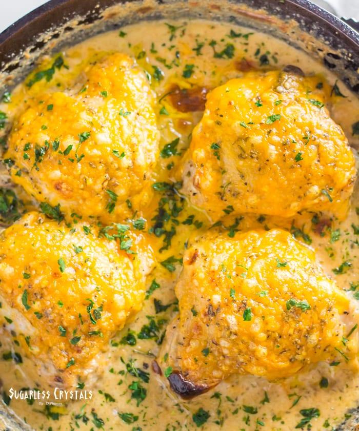 skillet chicken thighs in cast iron