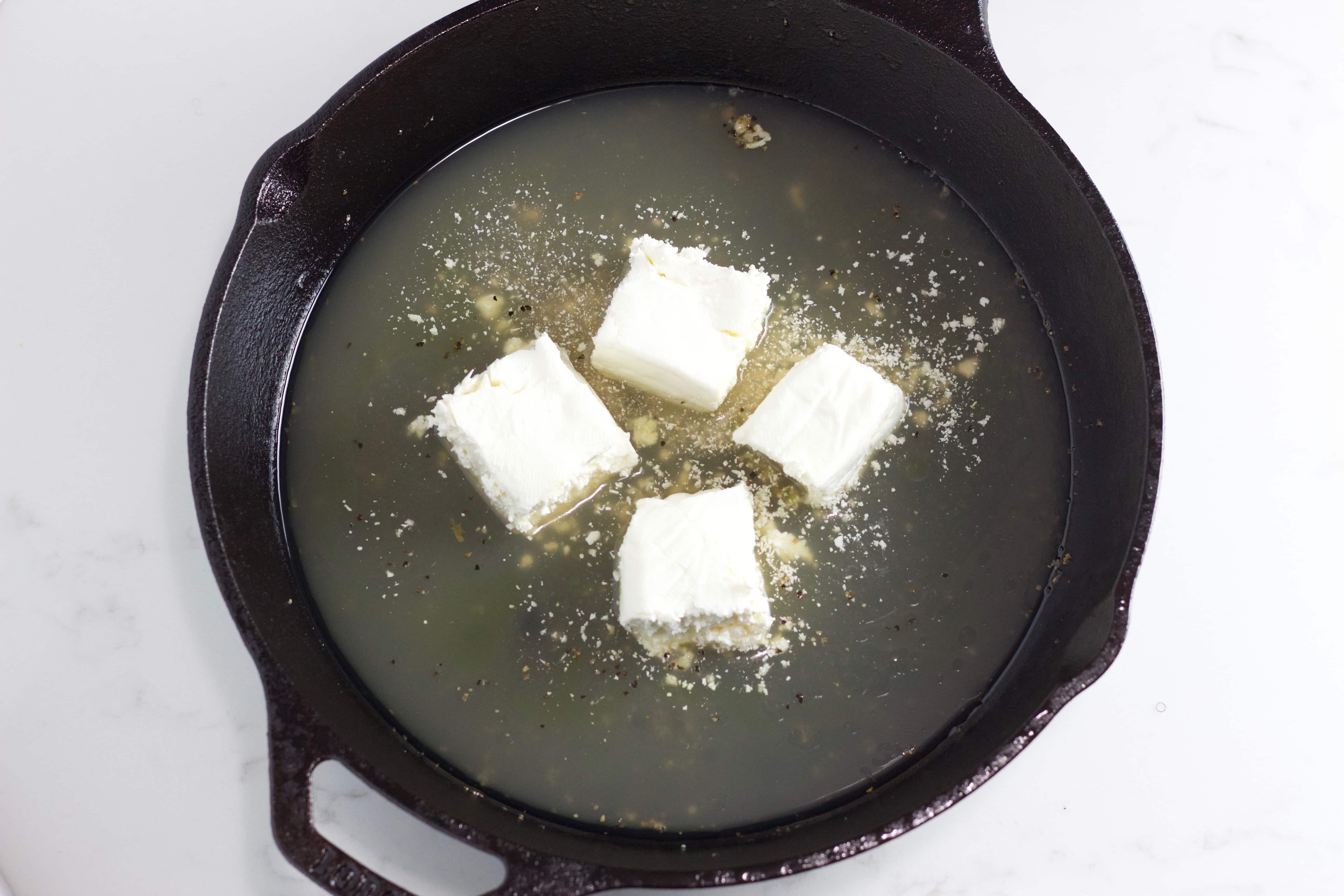cream cheese in bone broth