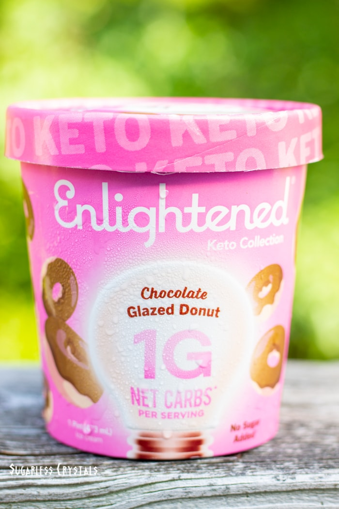 chocolate glazed donut keto ice cream pint