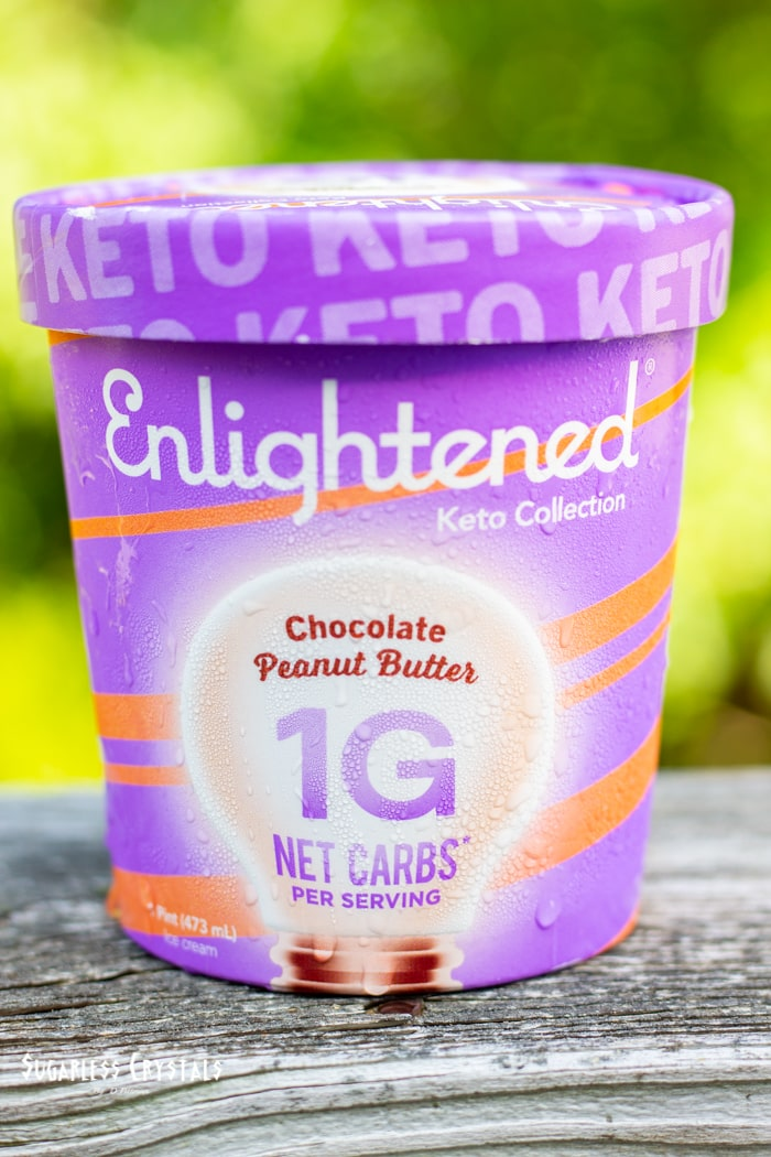 keto chocolate peanut butter enlightened ice cream pint