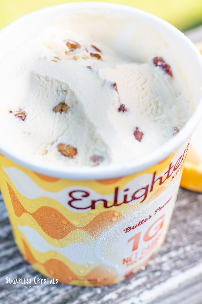 butter pecan pint of enlightened ice cream