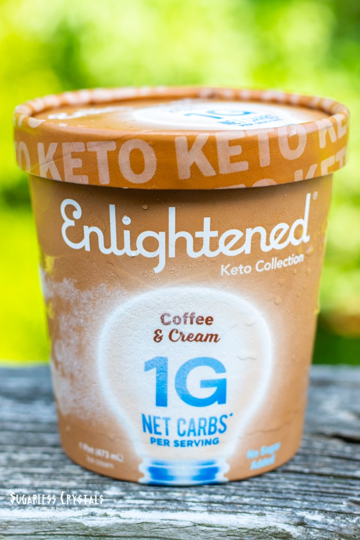 coffee and cream keto ice cream pint