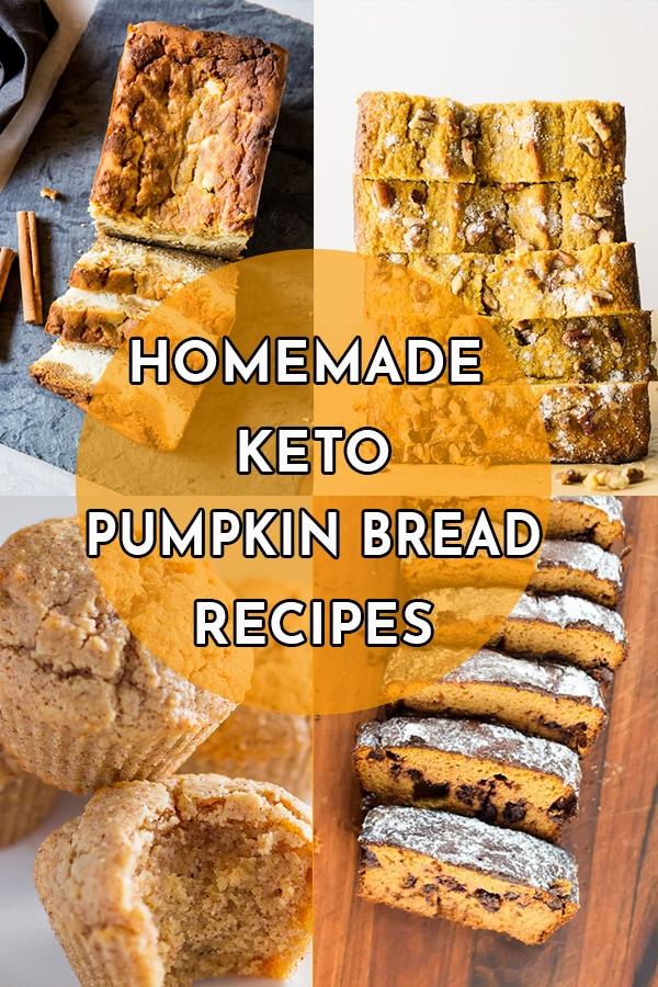 Homemade Keto Pumpkin Bread Recipes with Real Pumpkin