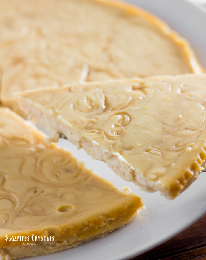Whole crustless maple keto cheesecake