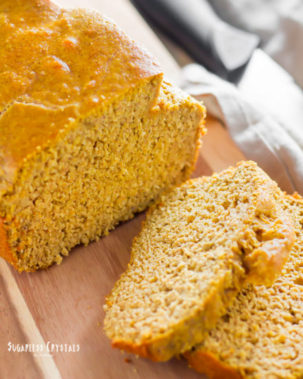 Keto Pumpkin Bread (Dairy Free, Nut Free) You Can Toast It!
