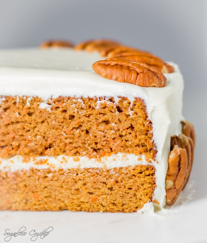 Perfectly Moist Keto Carrot Cake