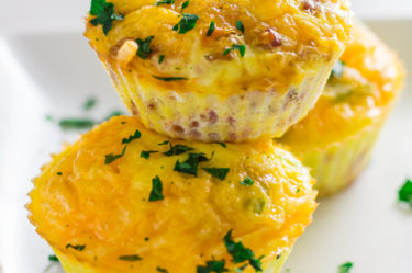 Keto egg muffins on plate