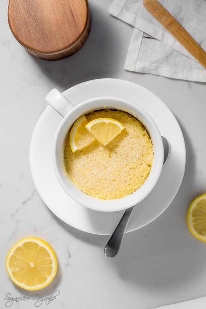 ketolemon mug cake
