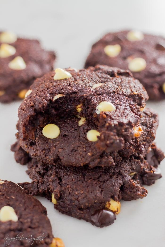 keto chocolate cookies on table