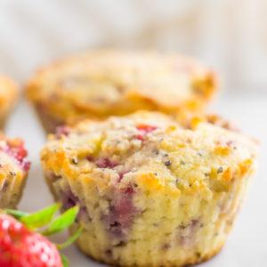 Coconut flourstrawberry muffins
