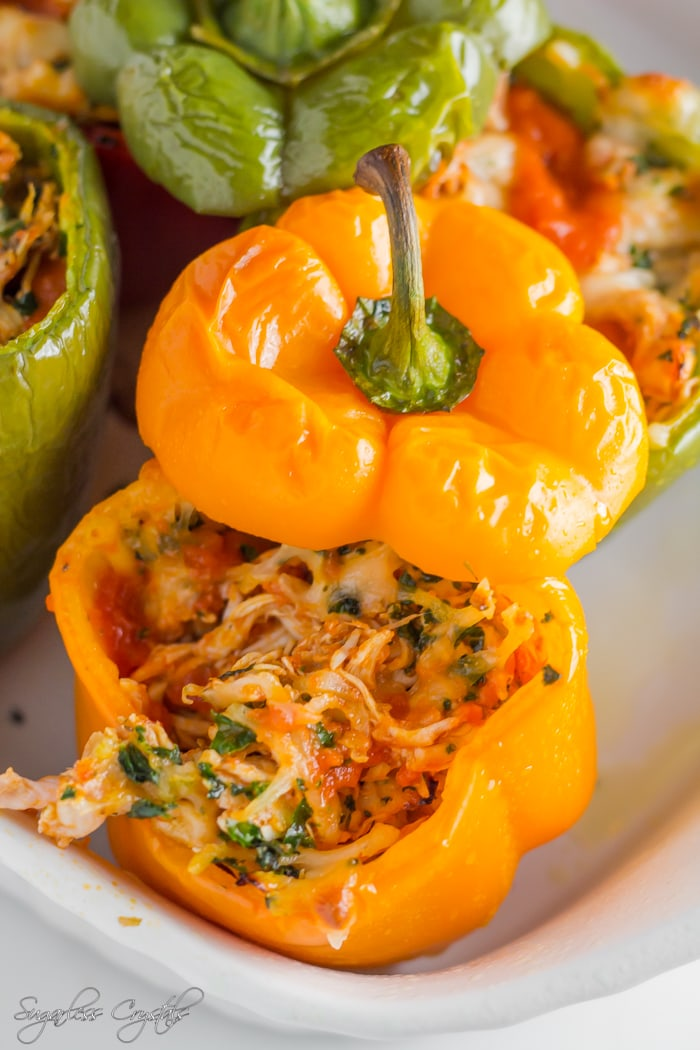 Chickenparmstuffed peppers