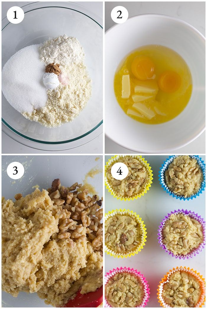 keto banana muffins step-by-step-instructions