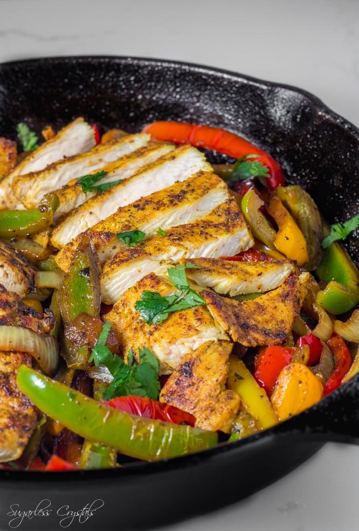 Keto Chicken Fajitas