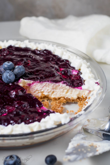 Keto Blueberry Cheesecake No Bake Recipe