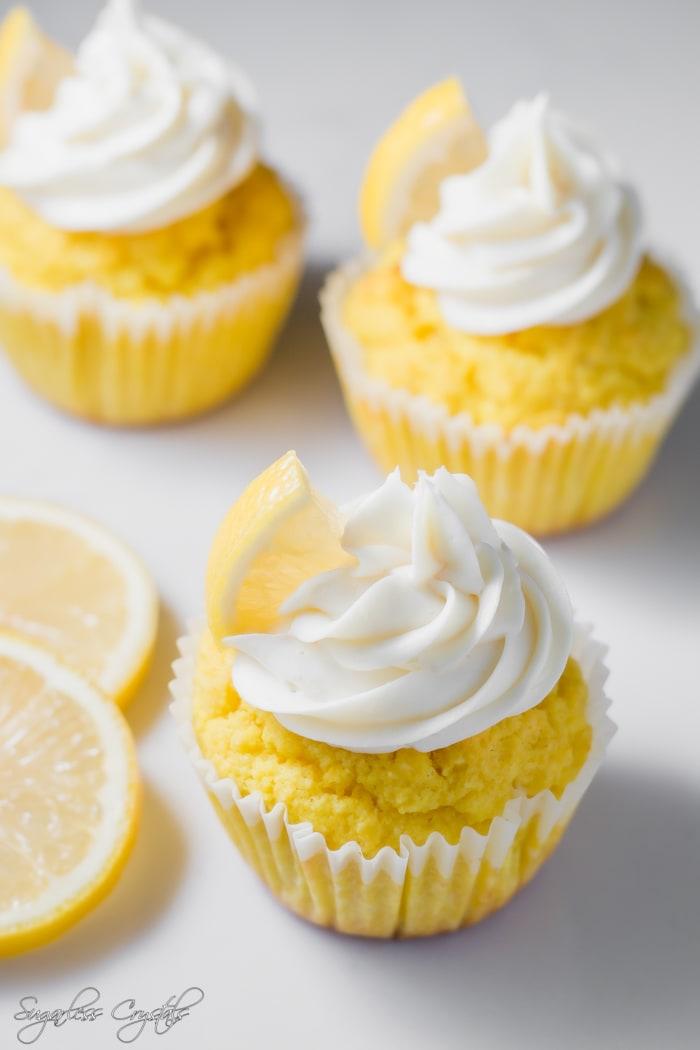 Keto Lemon Cupcakes
