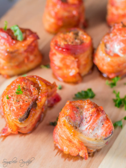 Bacon Wrapped Salmon Bites