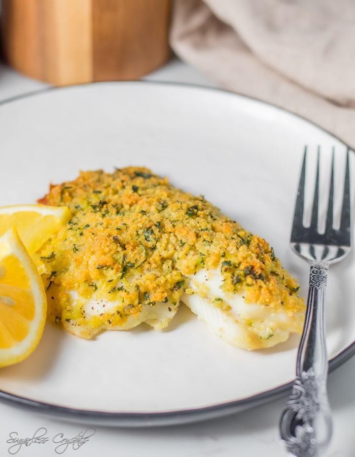 Parmesancrusted fish